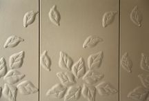 3D Quilted Flower Design / 3D Leather Wall Panels & Headboards in a Quilted Flower Design by BMS Individual