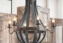 Wooden light - chandelier / Doğal Ahşap Avize