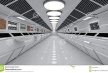 """Science Fiction (intérieurs) / """"Intérieurs futuristes"""" et spaciaux"""