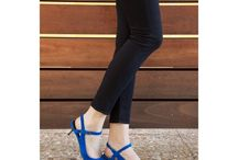 Blue shoes outfit