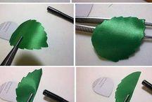 hojas con lazo