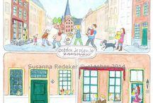 """Zutphen Bruist / I'm honoured to make some illustrations for the Dutch Magazine """"Zutphen Bruist"""". #zutphen"""