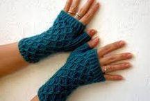 guanti a maglia