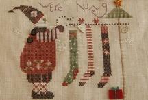 Christmas Cross Stitch / Santas, ornaments and Christmas designs / by Cheryl Muszynski