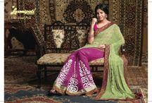 KALAKRITI  / Designer Semi Embroidered Sarees Catalog