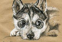 рисунки , животные и арт