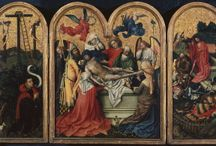 Robert Campin, The Seilern Triptych, c. 1425 / This board is exploring The Courtauld Gallery's The Seilern Triptych, one of the most fascinating pieces from our medieval collection. We hope this inspires you to learn more about this painting and use it for future making.  / by Education Courtauld