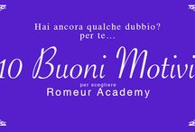10 Motivi per scegliere Romeur Academy Miss Italia / Vuoi partecipare ad uno stage esclusivo di Make Up? Romeur Academy ti offre l'opportunità di far parte del Team Make Up ufficiale di Miss Italia