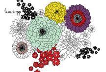 Arts & Crafts: Floral Templates 2