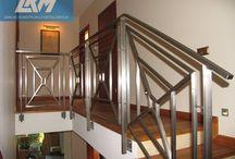 Balustrady ze stali nierdzewnej / Przykłady wykonania balustrad ze stali nierdzewnej