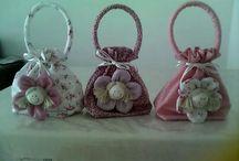 artesanato bolsa de pano