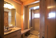 Timber Frame Baths / Finished bathrooms in our timberframe homes