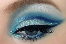 Aqua eyeshadows