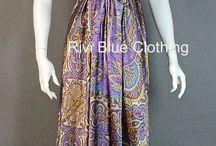 RiviBlueClothing.com / Scarf Dresses, Wrap Dresses, Vintage Clothing, Rivi Blue Clothing