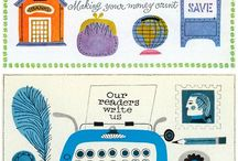 Illustration and colour. / A collection of mid century illustration and typography.