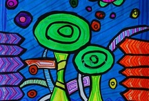 Julianna346's art on Artsonia-Hundertwasser Landscape