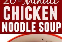 Twenty minute chicken noodle soup