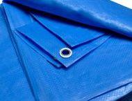 Lona Impermeável Plástica Azul para Telhados Camping Barracas Forro