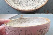 malované misky