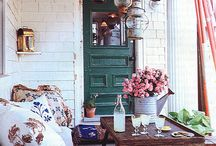 Porches, balconies and patios
