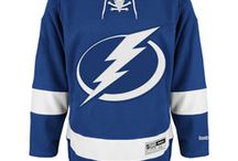 Tampa Bay Lightning - Official NHL Hockey Jerseys / We are the leading manufacturer of professional sports lettering & numbering and we have been selling officially licensed NHL jerseys and apparel via the internet since 1999. Visit: CoolHockey.com for more!