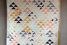 Quilts: Half Square Triangles, Rectangles, and Hourglass