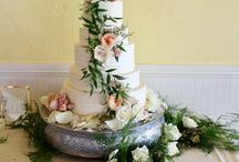 Rustic natural wedding cakes by Johnsons custom cakes