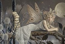 Fairy Paintings (by David Delamare) / Sharing this fairy artwork is authorized (on Pinterest only) if our description is used without alteration. Pins that do not meet these guidelines will be removed. (Thanks for respecting copyright!)