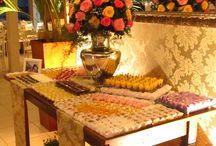 Mesas / Mesas de doces que montamos para casamentos, formaturas, aniversários e bodas.