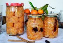 frutas en almibar y dulces