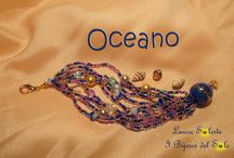 BRACCIALE OCEANO / Bracciale multifilo con perline - perle - cristalli - pietre