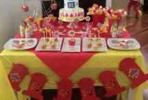 "sweet table ""SAM IL POMPIERE"""