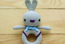 Marie Smthred Rattles / Crocheted baby rattles by Marie Smthred