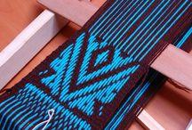 telar mapuche azul negro