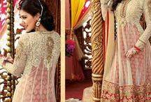 Bela / Look like a  Diva in this Beautifully Embroidered Semi Stitched Party Wear Anarkali.