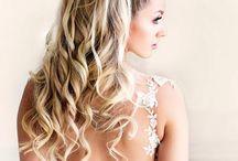 bridal hair backless dress