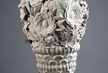 ceramics flowers