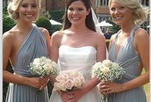 Grey Bridesmaids / Beautiful bridesmaid dresses in grey.