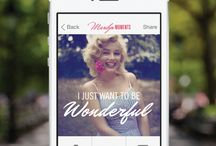 Marilyn Moments / Artwork created with Marilyn Moments, the first official Marilyn Monroe iPhone app. Download Marilyn Moments: http://bit.ly/MarilynMoments / by Marilyn Monroe