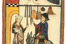 Średniowiecze / Zbiór obrazków, ikonografii, wykopalisk i odtwórstwa. Głównie XIV i XV wiek