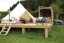 small A frames / tents