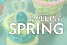 Sweets for Spring / Greet the season with fresh cake decorating ideas for Spring. Whether it's a bunny cake for Easter or buttercream flowers on Mother's Day cupcakes, we'll inspire you to make bright and cheery springtime desserts.