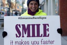 Running signs