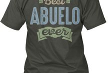 ABUELO TEES / Gift ideas for Abuelo! Tees, Hoodies and Long-sleeves available in the style and color of your choice! By Cido Lopez