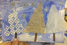 Zima, winter, stromy, sněhulák, snowman / Zimní tvoření