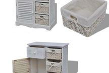 White Cabinet Unit Storage Rack