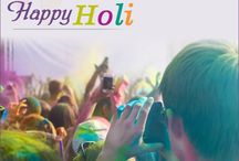 """HAPPY HOLI / The red of love The blue of compassion The green of happiness The yellow of togetherness  Colours unite a nation that revels in joy                 """"HAPPY HOLI"""""""