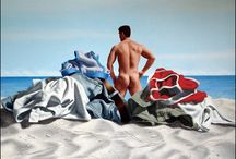 Steve Walker (1961-2012) Canadian / The Male Body Art of gay artist Steve Walker.  Sprocket Trust project to educate homophobic Devon & Cornwall police one painting at a time.