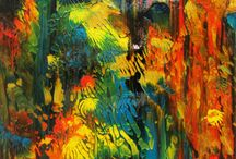 #art #painting #abstract #forest #sunshine