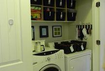 Laundry Room Organizing / Tips for organizing your laundry room and your laundry routine.